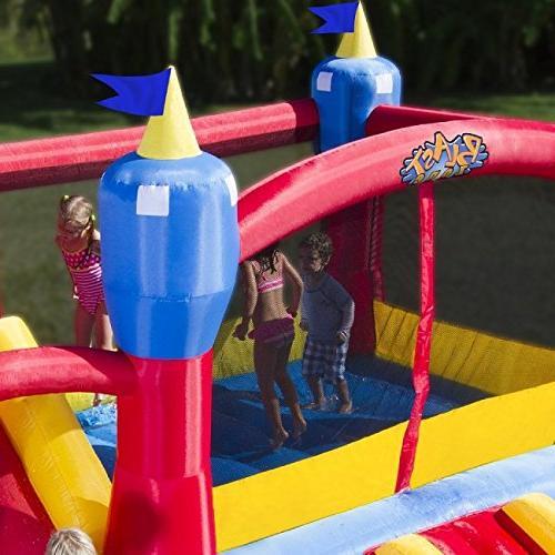 Blast Zone Kingdom Inflatable Park Slide