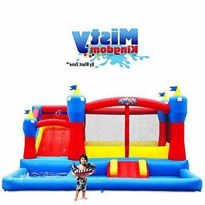 Blast Zone Misty Kingdom Inflatable Bouncer - Water Park wit