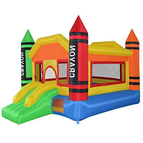 Cloud 9 Mini Crayon Bounce House - Inflatable Bouncing Jumpe
