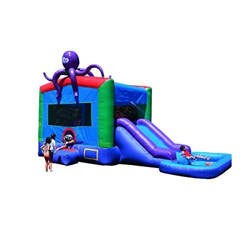 JumpOrange Commercial Grade Octopus Wet/Dry Inflatable Bounc