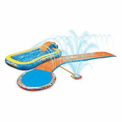 Aqua Drench 3-in-1 Splash Park Slide Water Slides Inflatable