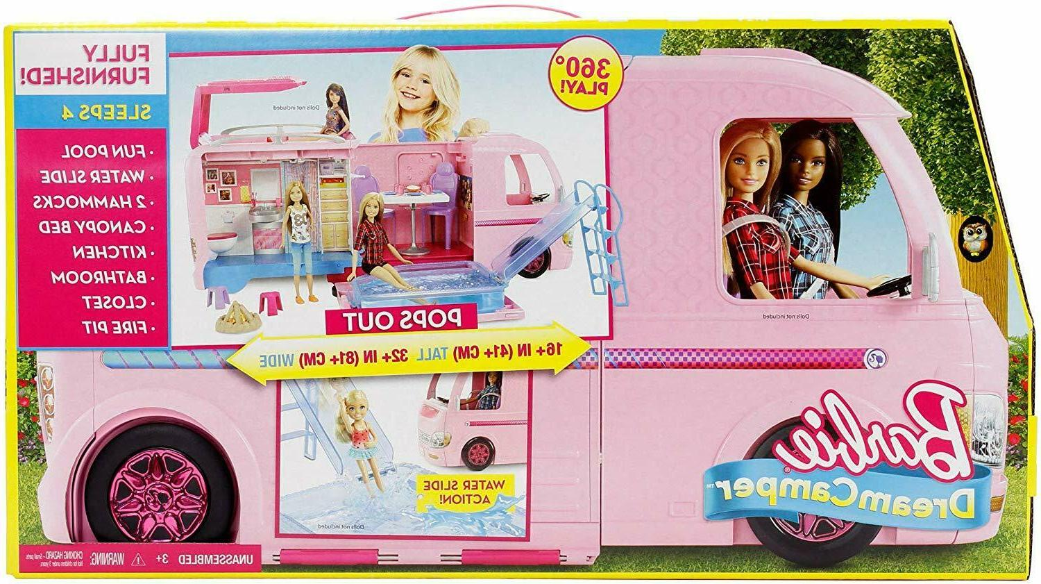 SHIPS TODAY!! Brand New Mattel Barbie Dream Camper Playset F