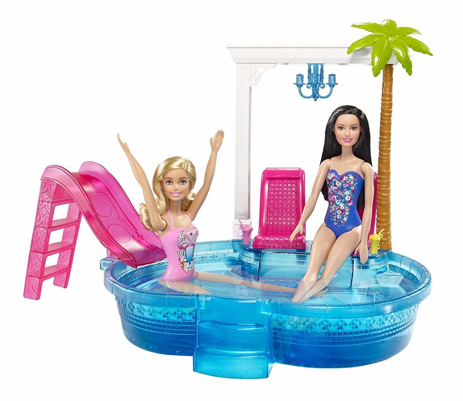 barbie glam pool fun doll activity child