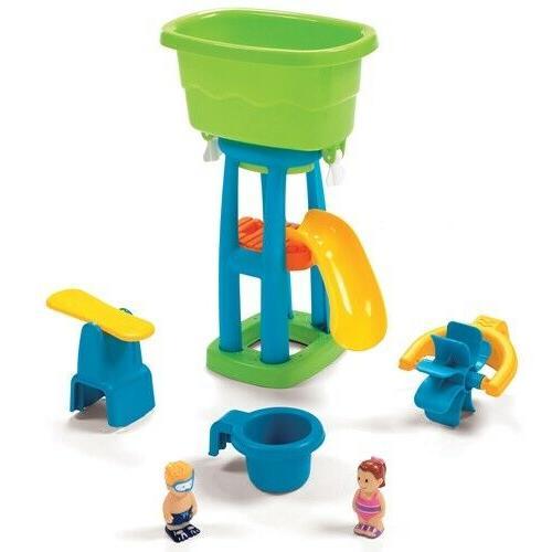 Step2 Water Wheel Slide Toddlers Outdoor Yatd Fun New