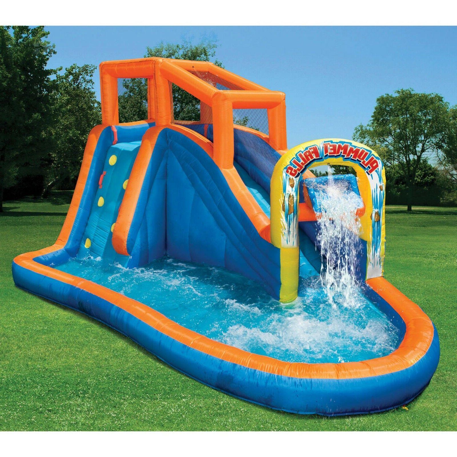 Blue Slide Air Blower Outdoor