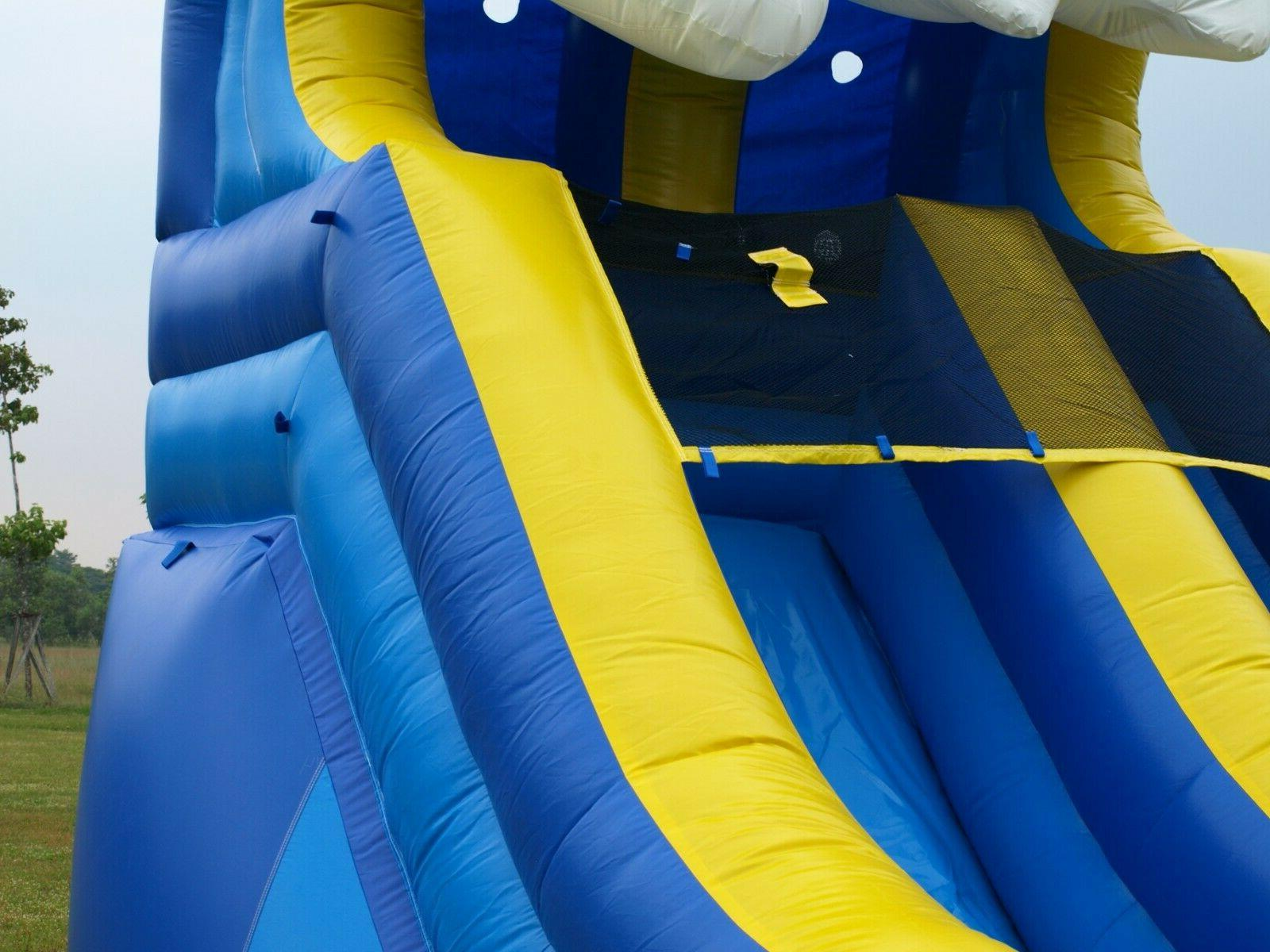 Blue Inflatable Water Slide Tall 100% Vinyl NO
