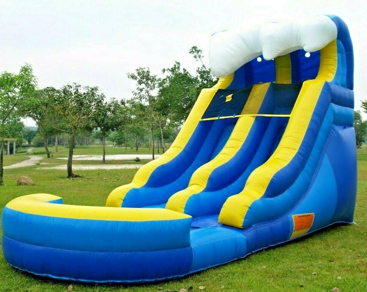 blue wave theme inflatable water slide 12