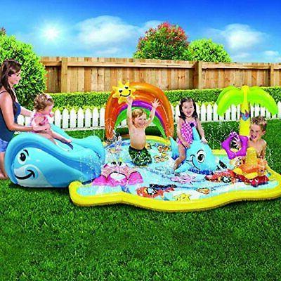 BONZAI Kids Play Inflatable Water Slide