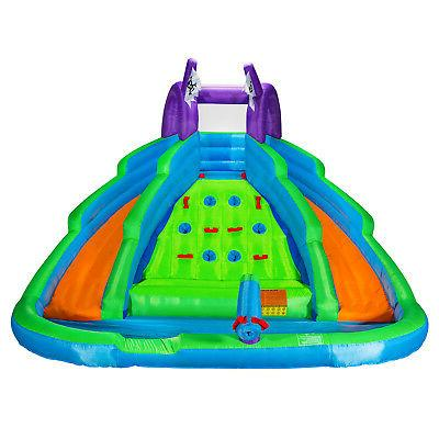 Cloud 9 Bounce House With Climbing Slide Pool Blower