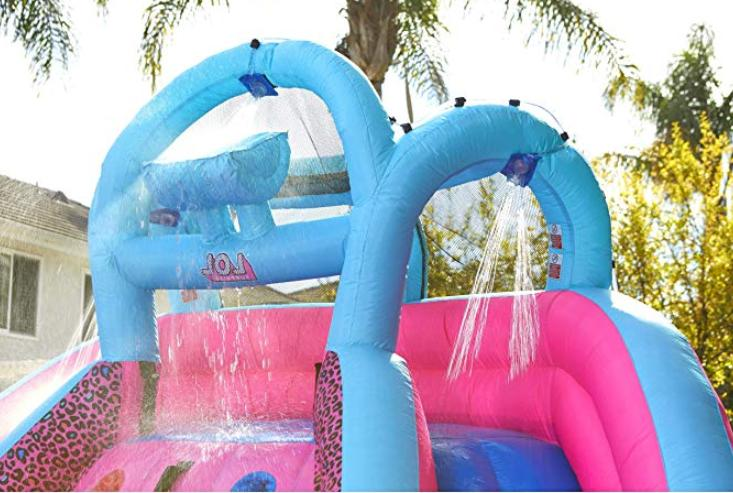 bouncer Inflatable Slide with bag for kids wall
