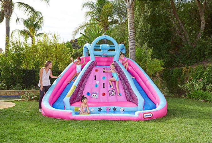 bouncer Inflatable 2 Water Slide with bag for climbing wall NEW