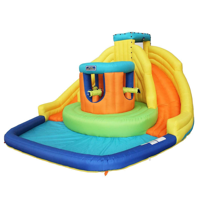 Castle Inflatable Park Double Water Slide