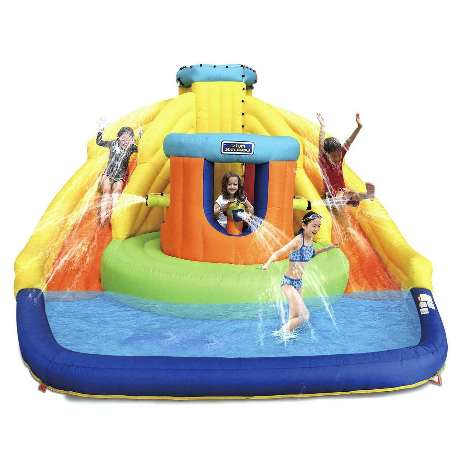 castle bounce inflatable water park with double