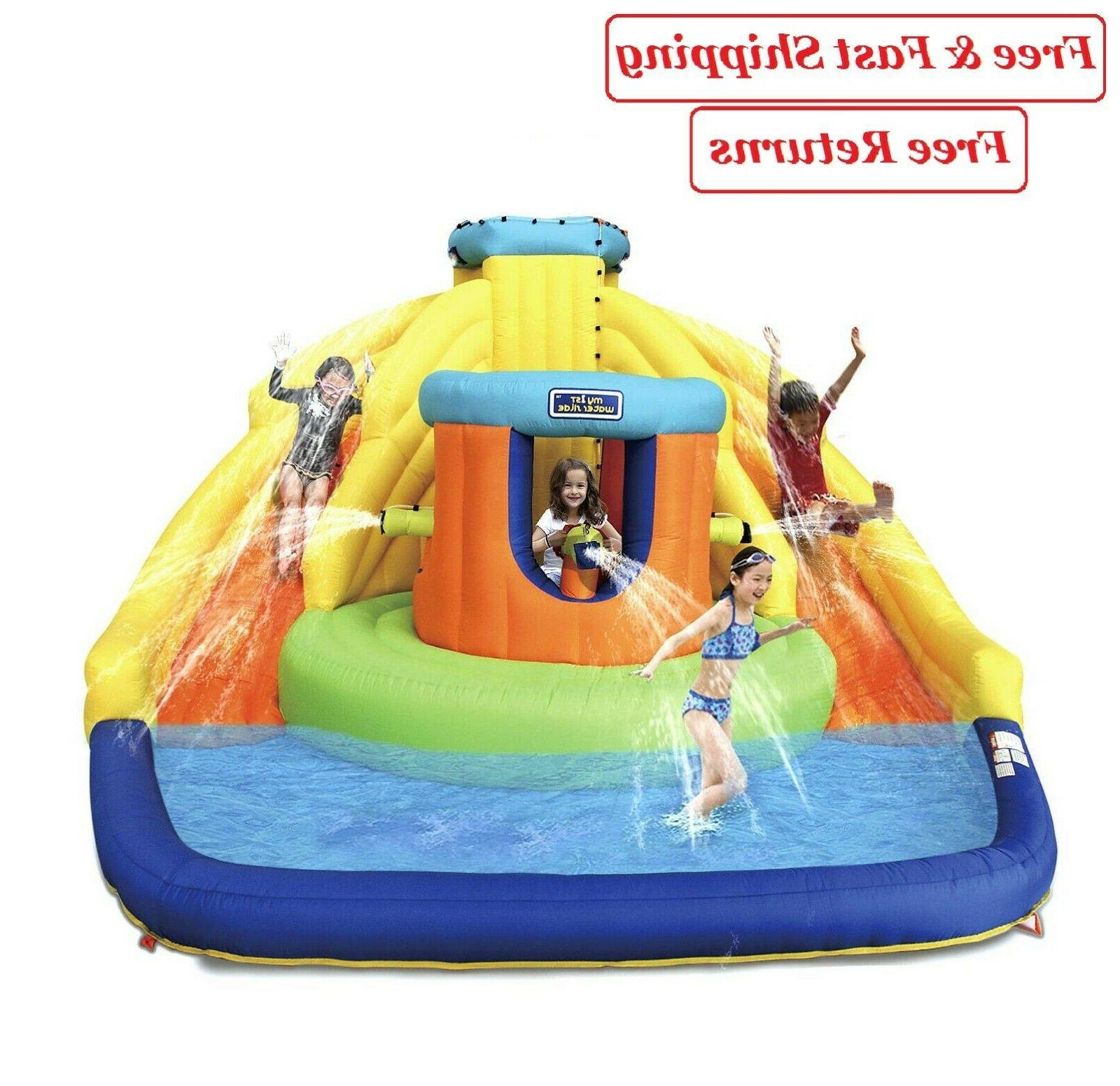 castle bounce with double water slide