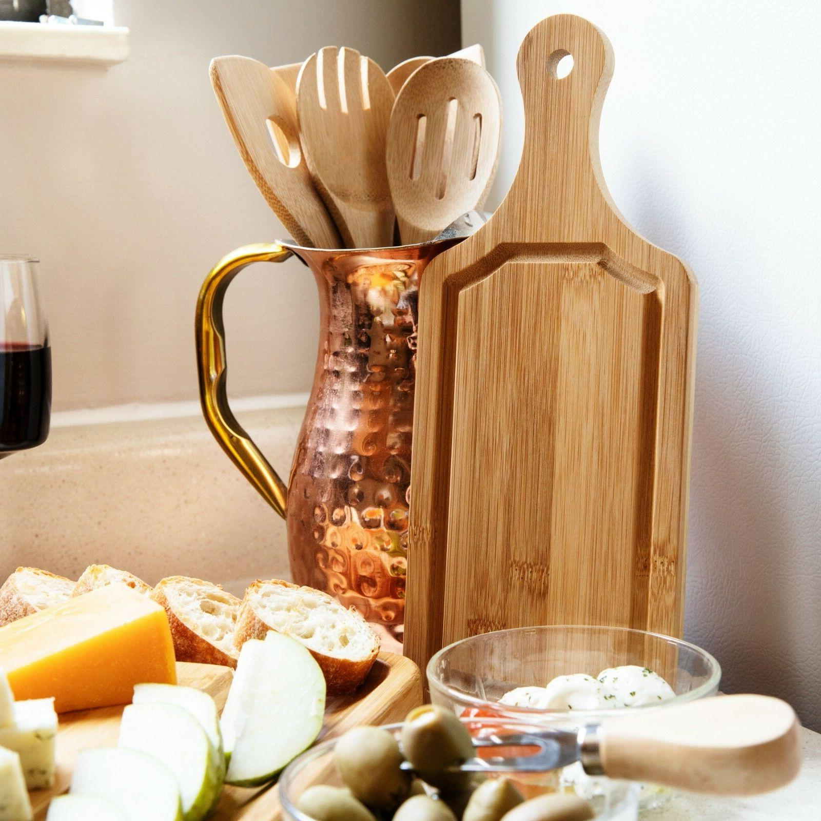 Cheese Board & Set with Drawer 100% Bamboo SELLER*