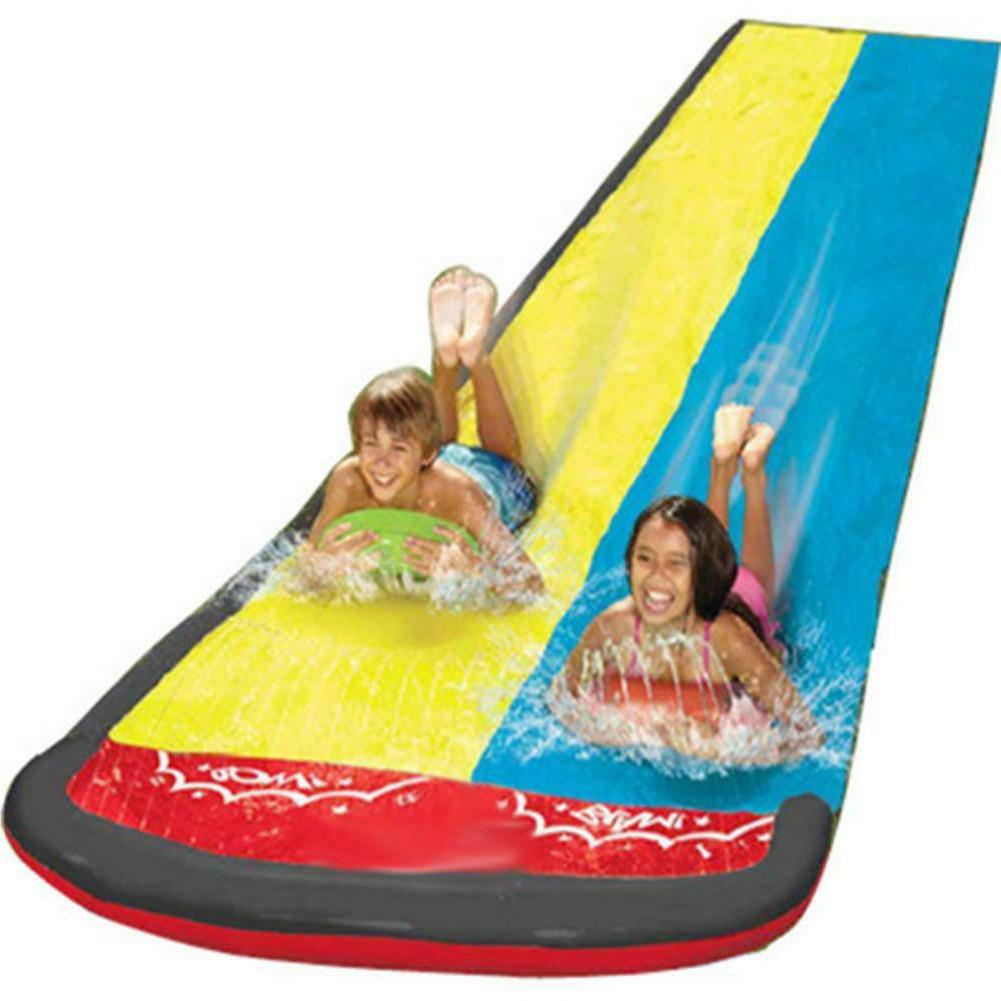 FUN! Slide w/Drench Water Inflatable Double Racing Summer Ch