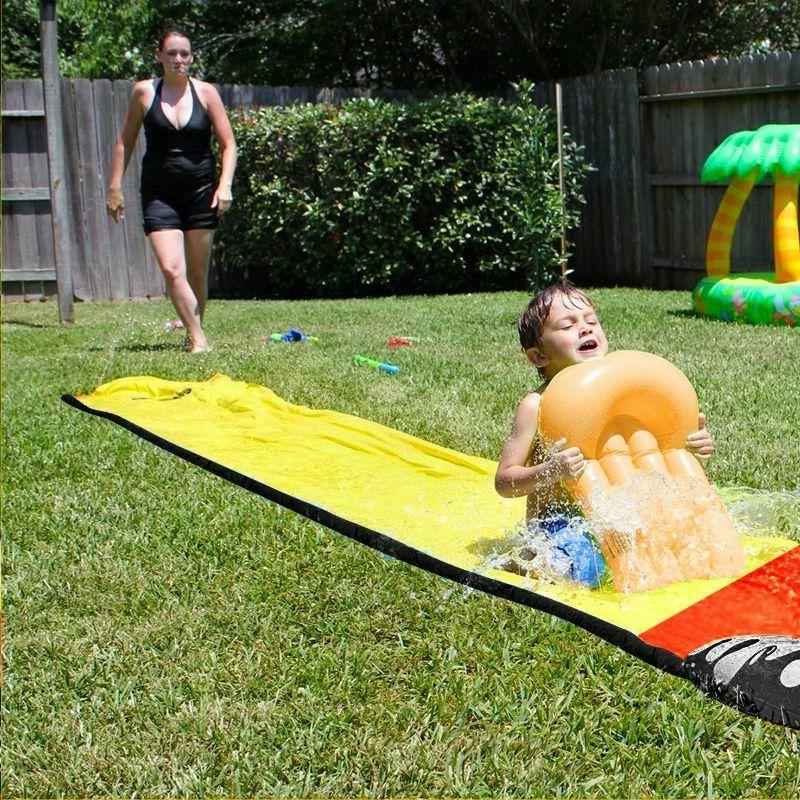 Children Summer Surf Lawn Water Slides Pools Kids Games Outdoor