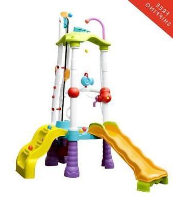 childrens water slide tower climber indoor outdoor