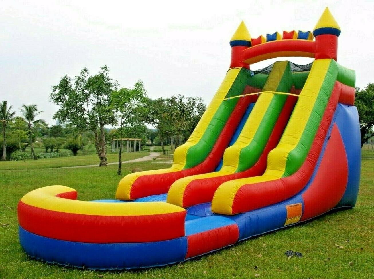 commercial grade inflatable water slide rainbow 15