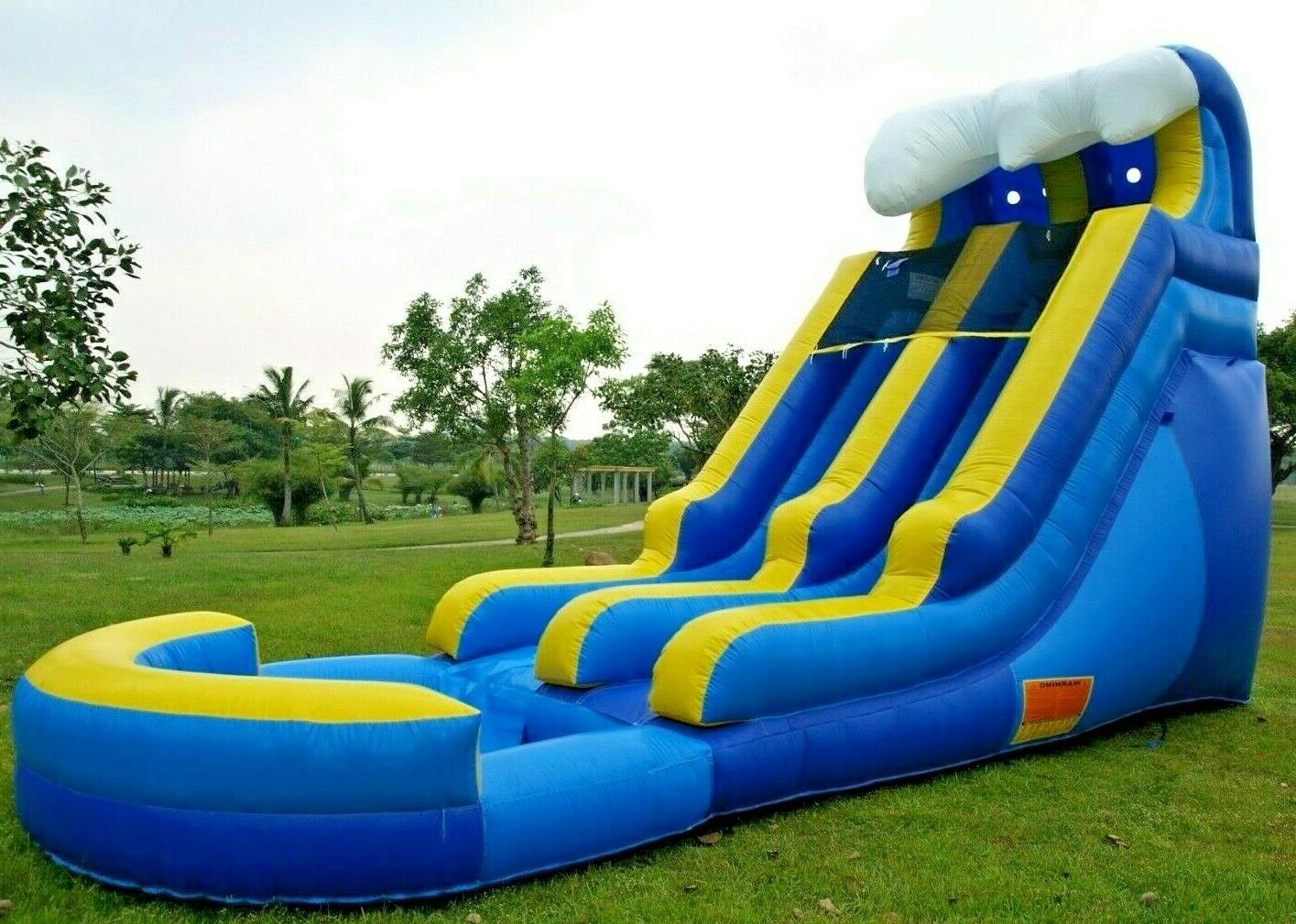 commercial grade inflatable water slide tidal wave