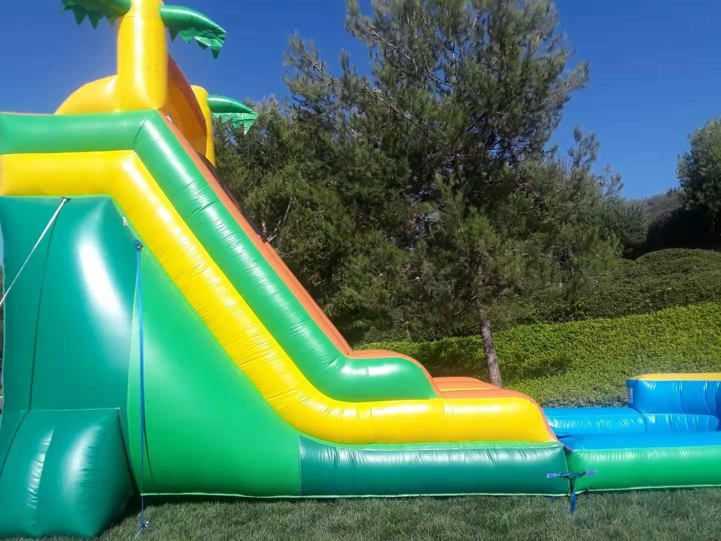 Commercial Grade Inflatable Water Slide Waterfall Tall Blower