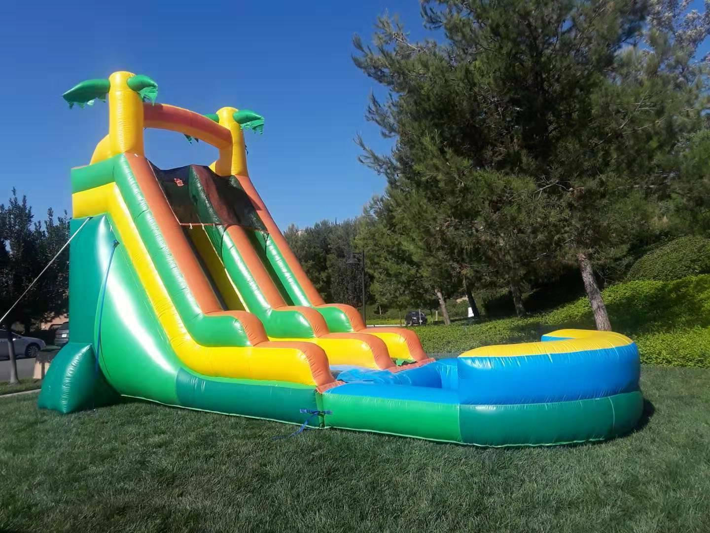 Commercial Inflatable Slide Waterfall Tall Blower