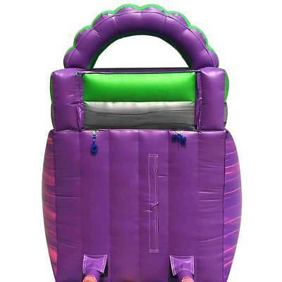 Commercial Bounce House Wet Dry Purple Marble Water Slide Blower