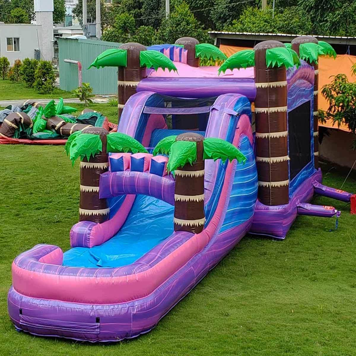Commercial Inflatable Water Slide Wet/Dry Combo House