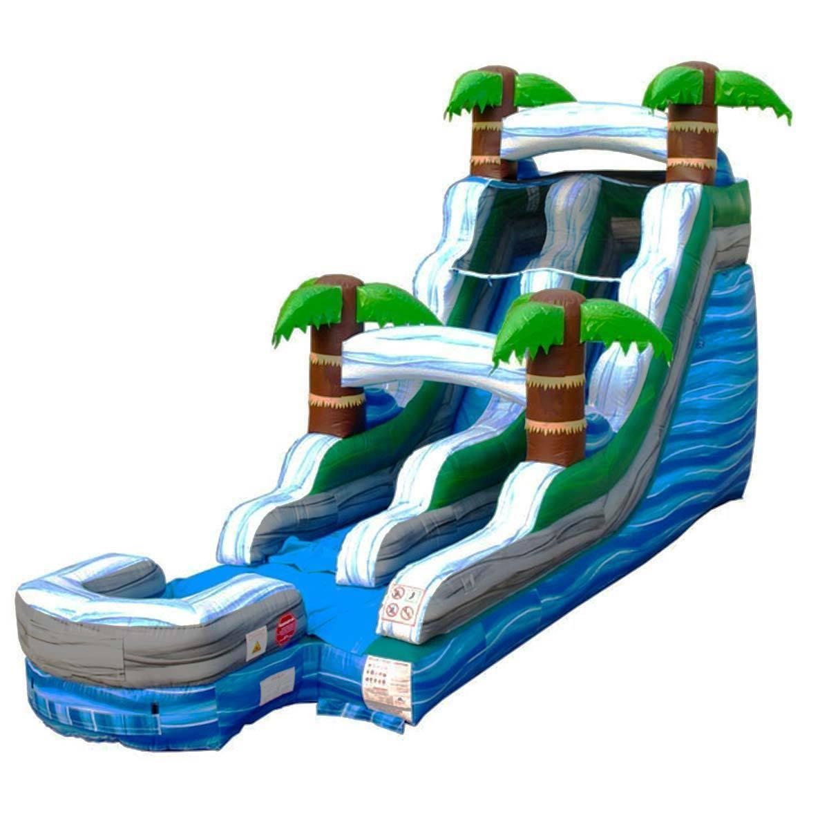 15'H Tropical Kids Backyard Slide