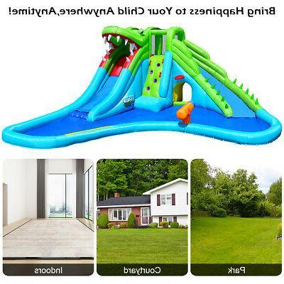 Crocodile Inflatable Park Dual Wall