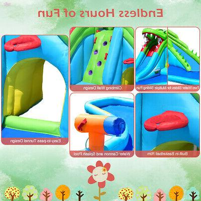 Crocodile Slide Park Wall & Splash Pool
