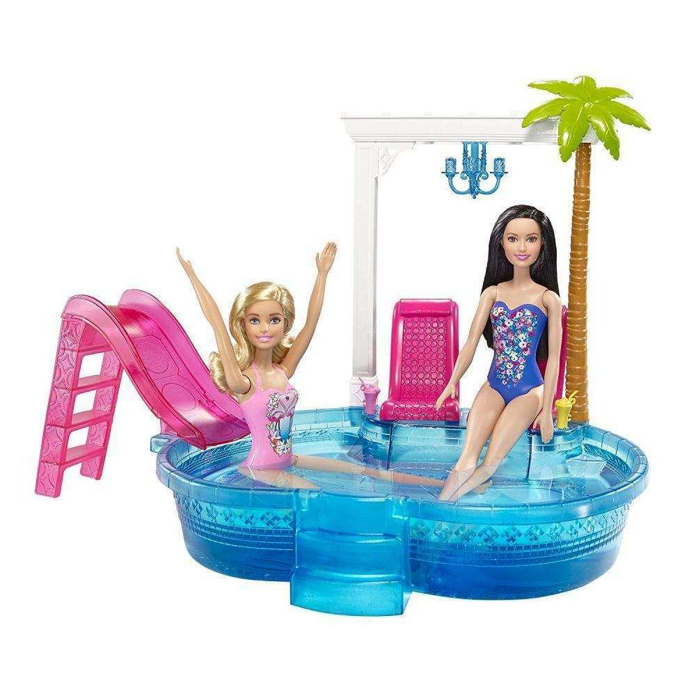 dgw22 barbie glam pool doll playsets