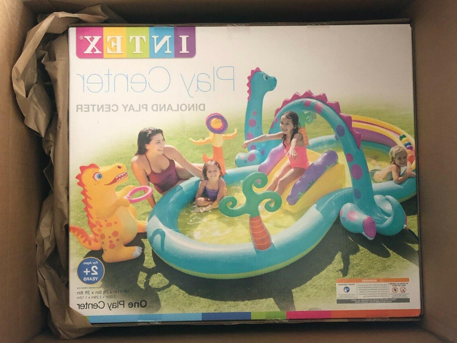 dinosaur dinoland inflatable swim play center kiddie