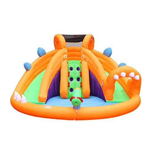 dinosaur inflatable water slide bounce