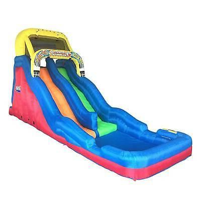 double drop raceway 2 lane inflatable kids