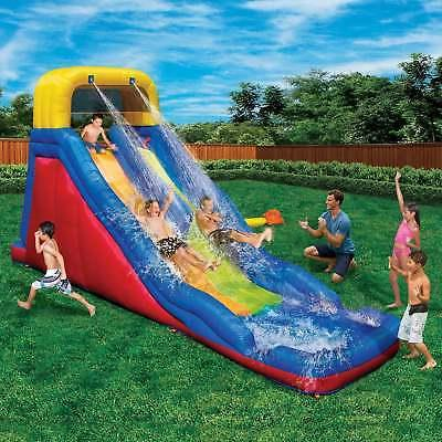 Banzai Raceway Inflatable 2 Lane Water Slide and