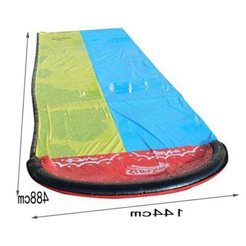 Double Slide Inflatable Lawn Slip slide long Water Slide