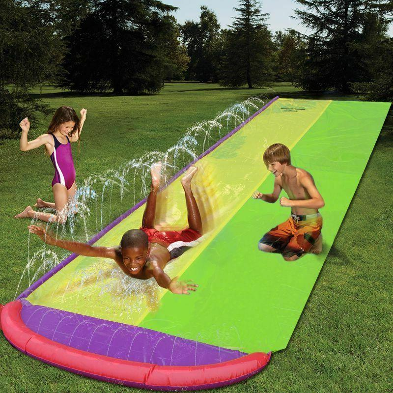 4.8m Giant Surf 'N Double Water Slide Lawn For Children Summ