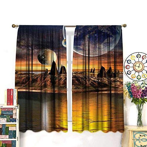 fantasy house decor curtains alien