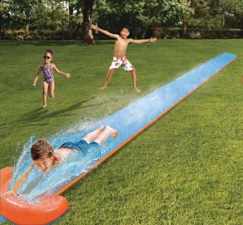 h20 go inflatable single water slide kids