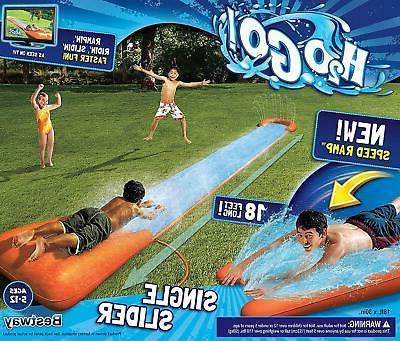 h2ogo single water slide w speed ramp