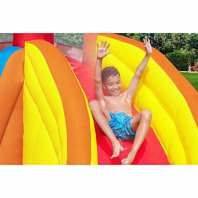 Bestway Tower Kids Inflatable Mega Water Slide Splash Park