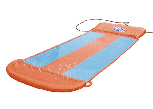 h2ogo triple water slide w speed ramp