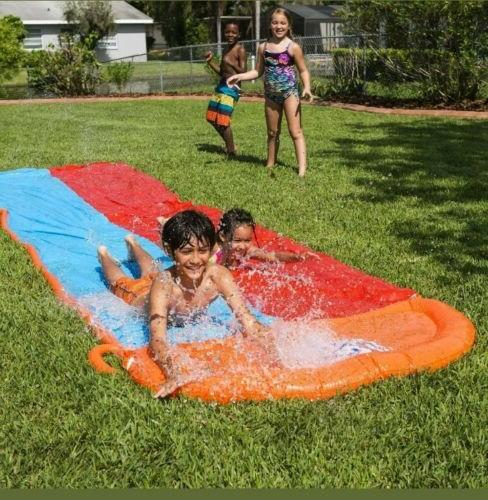 h2ogo water slide long 18ft double slider