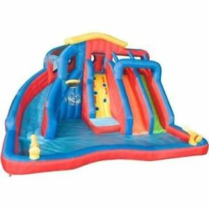 hydro blast inflatable water park with slides