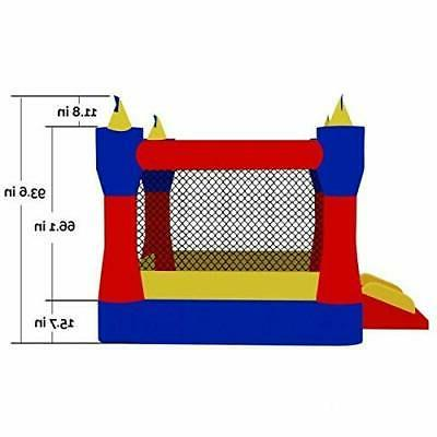 In/Outdoor Castle Inflatable House Slide Kids
