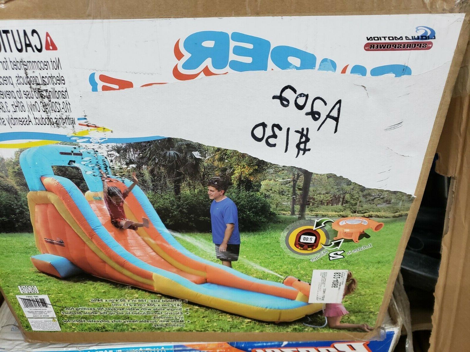 inf 2081 super slide inflatable water slide