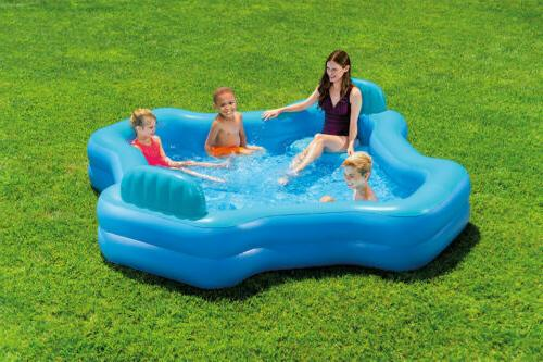 inflatable 2 seat swim center family lounge