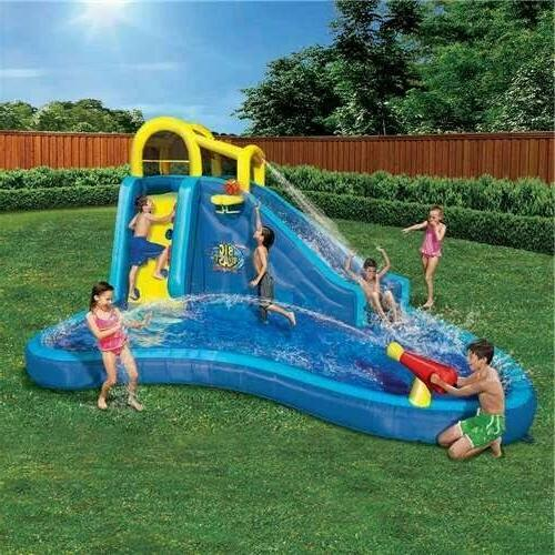 inflatable big blast cannon splash slide lagoon