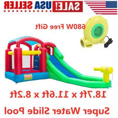 inflatable bounce castle water slide pool backyard